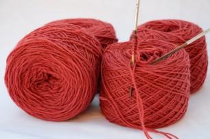 Merinos baby rosso scarlatto 4 gomitoli da 50 gr l'uno